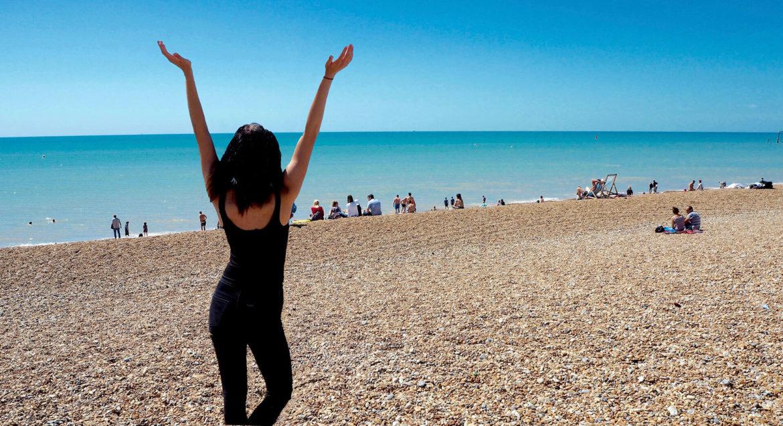 Dělám to co mě baví, pláž Brighton